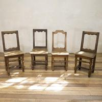 Set of Four French 18th Century Backstool Chairs (2 of 13)