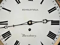 Exceptionally Fine 1845 English Drop Dial Fusee Wall Timepiece by Francis Scholefield (7 of 11)