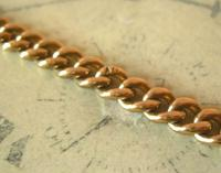 Antique Pocket Watch Chain 1890s Victorian Large 10ct Rose Gold Filled Albert With T Bar (7 of 12)