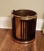 George III Mahogany & Brass Bound Plate Bucket (6 of 6)