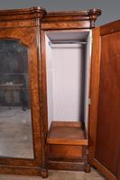 Large Antique Walnut Breakfront Triple Wardrobe (2 of 5)