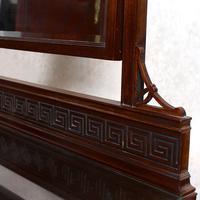 Dressing Table Mahogany Mirror Victorian Greek Key Frieze (5 of 9)
