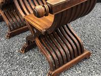 Important Pair Savonarola Walnut Chairs (3 of 7)