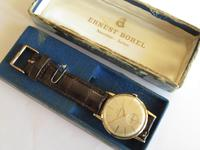 Gents 9ct gold Ernest Borel watch with box and papers (5 of 5)