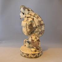 Rare Japanese Bone Okimono of The God 'Daikoku' (2 of 5)