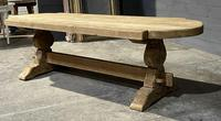 Large Rustic French Bleached Oak Farmhouse Dining Table (32 of 40)