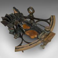 Antique Maritime Sextant, Brass, Admiralty, Naval, Instrument, Victorian c.1900 (6 of 12)