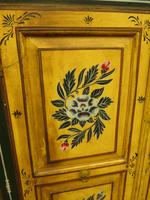 Vintage Indian Folk Art Bohemian Painted Cabinet Larder Linen Press Cupboard (4 of 13)