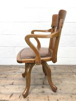 Early 20th Century Antique Swivel Desk Chair (9 of 10)