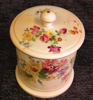 Antique Royal Worcester Blush Ivory Lidded Jar (3 of 8)