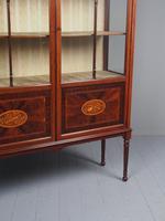 Antique Sheraton Style Inlaid Mahogany Display Cabinet (12 of 18)