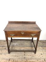 Antique 19th Century Oak Lowboy Side Table (8 of 11)