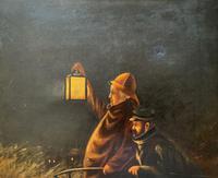 Newlyn School? Fab 19th Century Fishermen in Rough Seas Oil Portrait Painting (9 of 16)