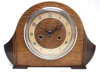 Art Deco Hat Shaped Mantel Clock – Striking 8-day Arched Top Mantle Clock