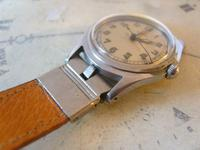 Vintage Wrist Watch Strap 1940s WW2 Military 16mm Brown Pig Skin Spring Loaded Ends Nos (7 of 12)