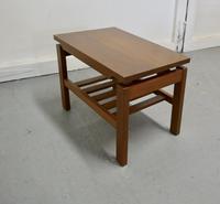 Small Mid Century Modern Teak Coffee Table with Magazine Shelf  Under (4 of 4)
