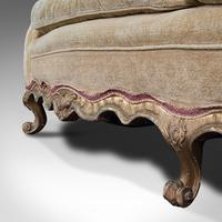 Antique 2 Seat Sofa, French, Textile, Beech, Settee, C.1900 (12 of 12)