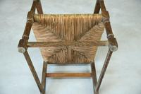 Arts & Crafts Oak & Rush Chair (4 of 8)