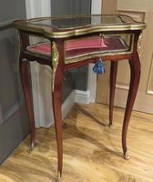 Louis XVI Mahogany Bijouterie Display Table Vitrine