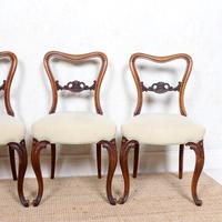 4 Walnut Balloon Dining Chairs 19th Century (9 of 12)