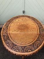 Antique Carved Oak Drop Leaf Table (6 of 7)