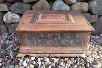 Scandinavian / Swedish 'Folk Art' Bridal / dowry box, with internal rosmålning, Gustavian era 1789