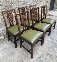 Set of 6 Georgian Mahogany Dining Chairs (3 of 21)