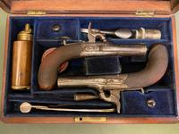 Good Pair of Cased Pocket Pistols - Signed Williams (5 of 6)