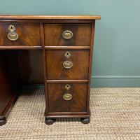Small Victorian Mahogany Antique Pedestal Desk (6 of 7)