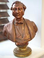 Superb Rare Large 19th Century Photo Sculpture Copper Bust by Willeme (5 of 11)