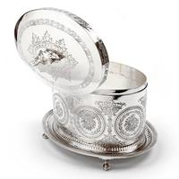 Victorian Henry Wilkinson Oval Silver Plated Biscuit Box (3 of 6)