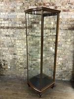 Antique Oak Bow Fronted Shop Cabinet (4 of 5)