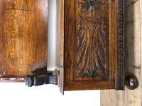 Antique Carved Oak Monk's Bench (5 of 10)