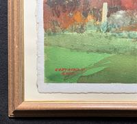 Leland Gustavson R.W.S Original Sporting Golfer Watercolour Painting (7 of 12)