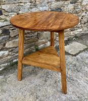 Antique Pine Cricket Table with Shelf (11 of 11)