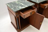 Pair of Georgian Style Marble Top Bedside Cabinets c.1930 (6 of 10)