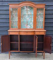 Superb, Fine Quality Edwardian Satinwood Display Cabinet c.1901 (2 of 19)
