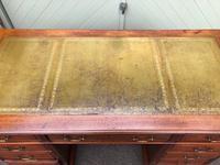 Antique Walnut Pedestal Writing Desk (8 of 13)
