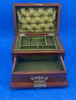Victorian Walnut Jewellery Box c.1900 (9 of 13)