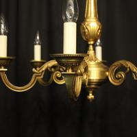 French Gilded Bronze 6 Light Chandelier (2 of 10)