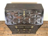 Antique Carved Oak Bureau (2 of 14)
