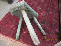 Early Victorian Welsh 3 Legged Painted Stool (3 of 3)
