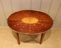 Low Inlaid Oval Table (4 of 9)