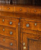 Handsome George III Period Oak Dresser & Rack (7 of 9)