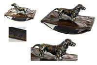 Art Nouveau WMF Style Metal Blotter with Dachshund Finial (2 of 5)