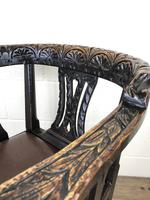 Victorian Carved Oak Gothic Armchair (M-1223) (11 of 12)