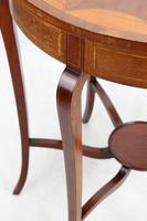 Edwardian Mahogany & Inlaid Circular Side Table (13 of 13)
