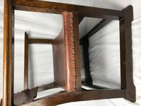 Fine Vintage Early 20th Century Original Adolf Loos Vienna Fireside Leather Armchair Secessionist Oak (19 of 46)