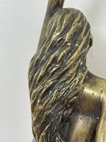 Art Deco French Signed Gilt Bronze 2 Female Nude Mermaids Swimming Statue c.1930 (35 of 41)