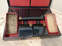 Gents Art Deco Leather Suitcase & Dressing Case (5 of 13)